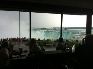 The view with a table